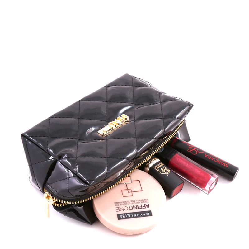 کیف لوازم آرایش ورنی بیوتی - مشکی