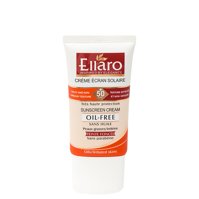 ضد آفتاب اِلارو با SPF 50 مناسب برای پوست های چرب حجم 40 میل