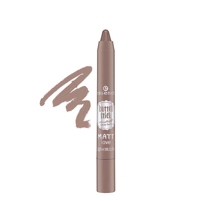 رژ لب مدادی مات اسنس مدل Butter Stick شماره 02 - شکلاتی