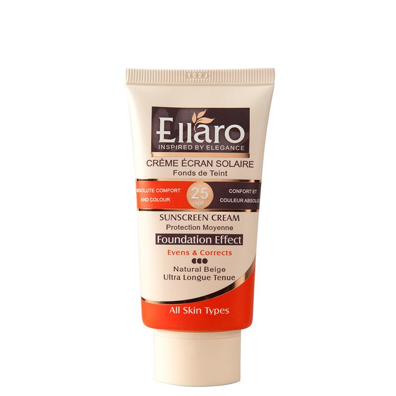 كرم ضد آفتاب رنگی اِلارو با SPF 25 حجم 40 میل - کاراملی