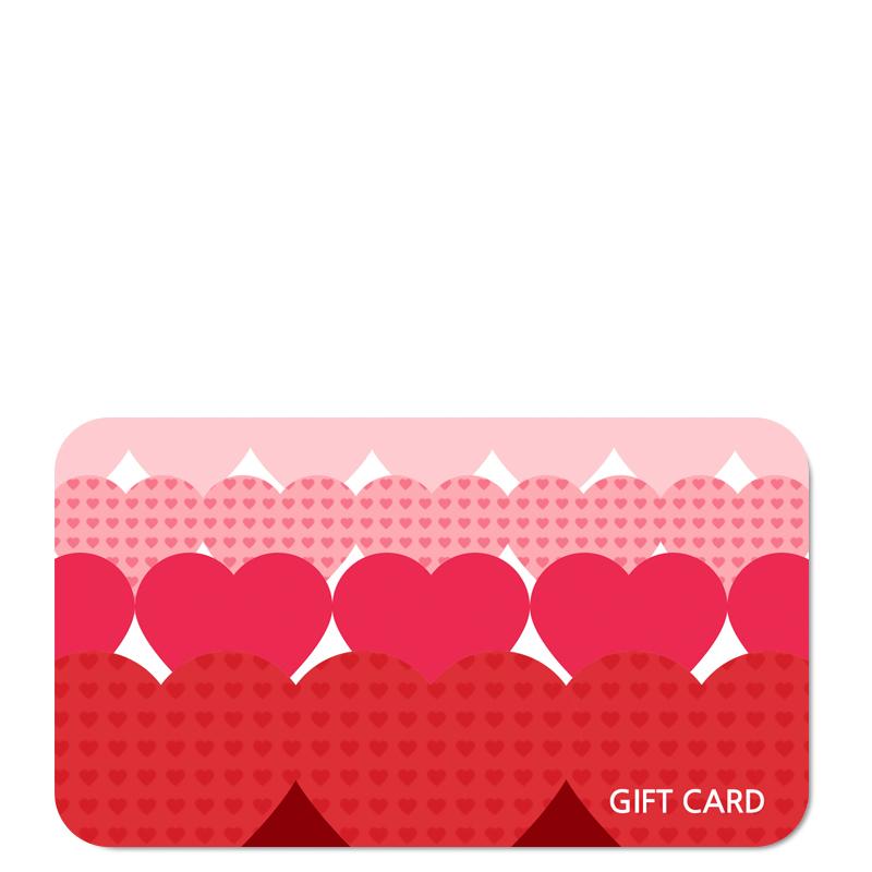 کارت هدیه 100000 تومانی روبان مدل قلب قرمز