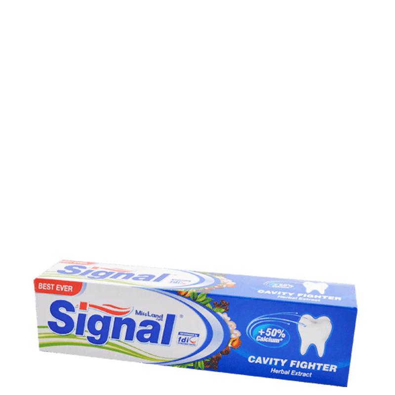خمیر دندان ضد پوسیدگی سیگنال مدل Cavity Fighter حاوی عصاره گیاهی حجم 100 میل
