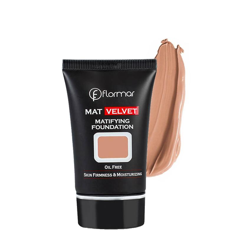 کرم پودر فلورمار مدل Mat Velvet حجم 35 میل شماره V206 - گندمی