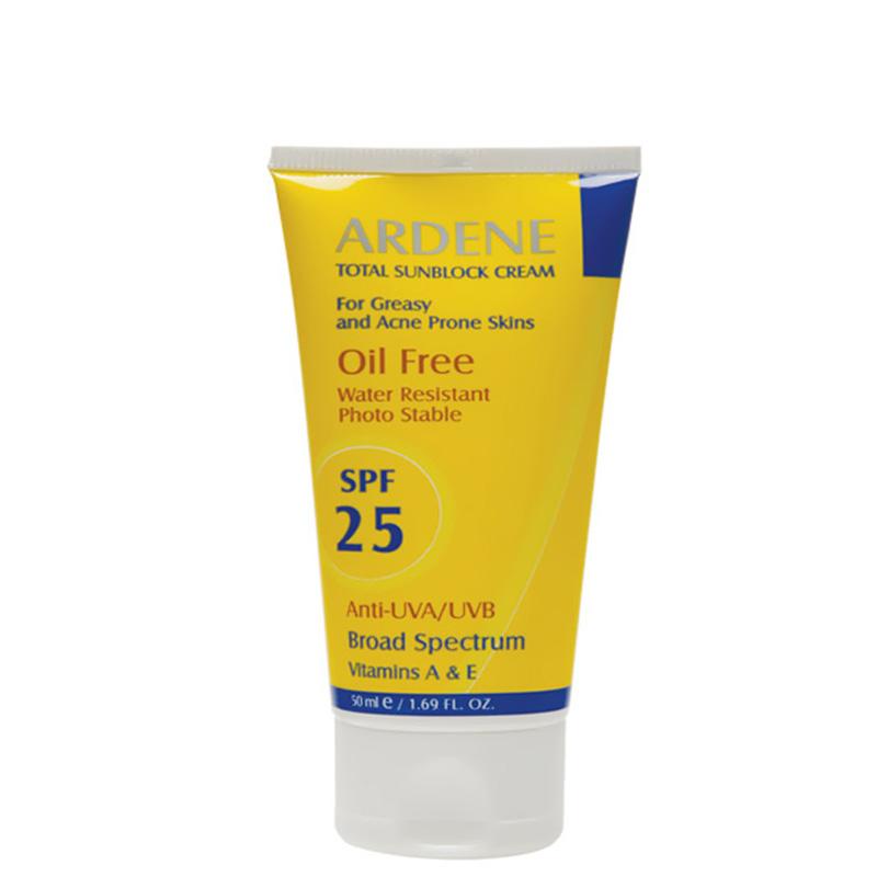 کرم ضد آفتاب فاقد چربی ضد آب آردن با SPF 25