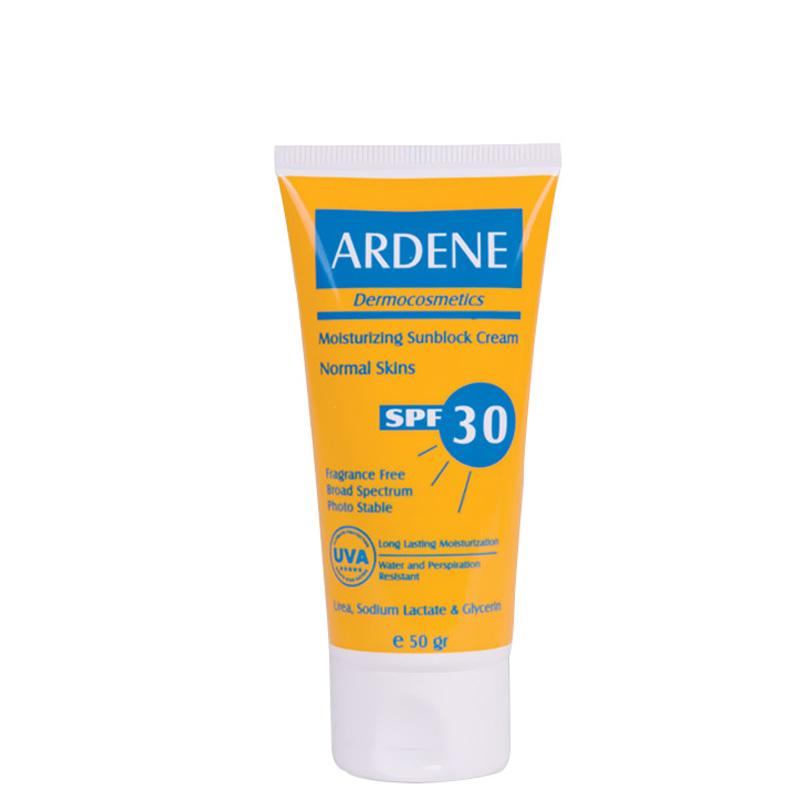 كرم ضد آفتاب و ضد آب آردن با SPF 30 حجم 50 گرم