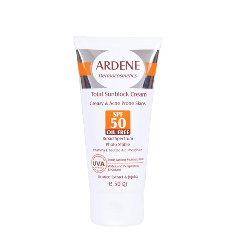 کرم ضد آفتاب فاقد چربی ضد آب آردن با SPF 50