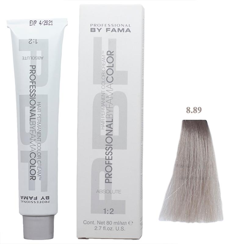 رنگ مو پروفشنال بای فاما مدل Absolute حجم 80 میل شماره 8.89 - خاکستری