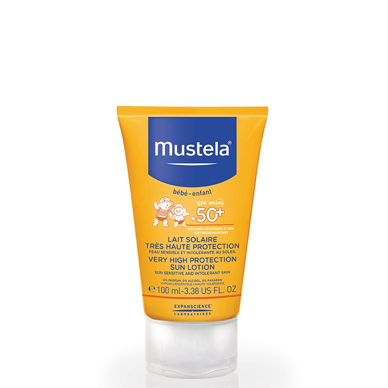 لوسیون ضد آفتاب کودک موستلا با +SPF50 حجم 100 میل