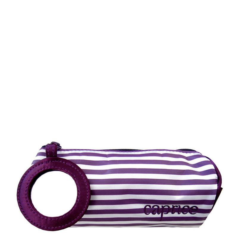 کیف لوازم آرایش راه راه ساتن آینه دار کاپریس