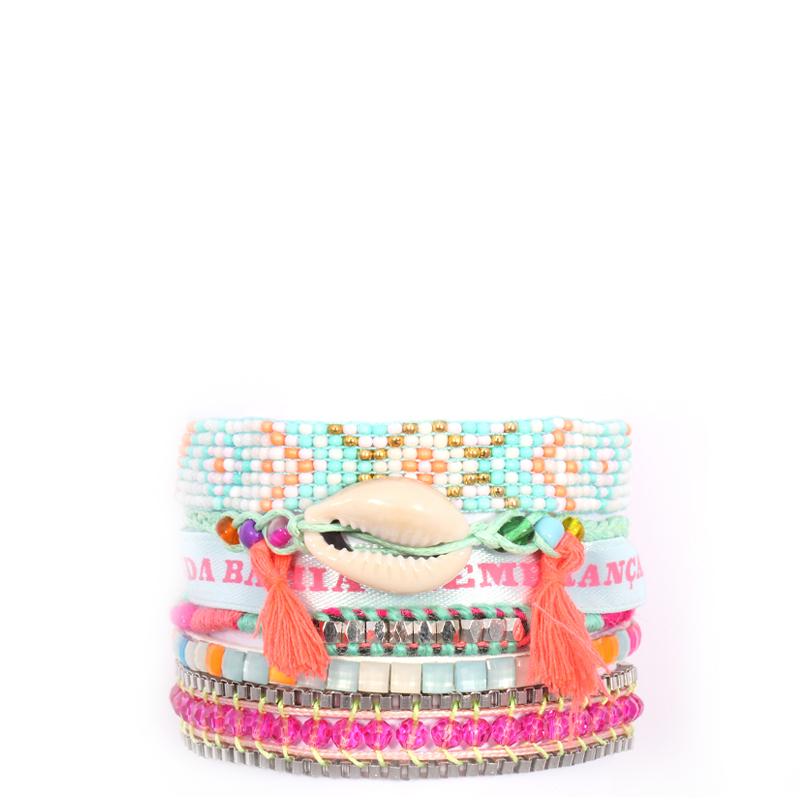 دستبند هیپانما مدل Fluro Turquoise Friendship - سایز کوچک