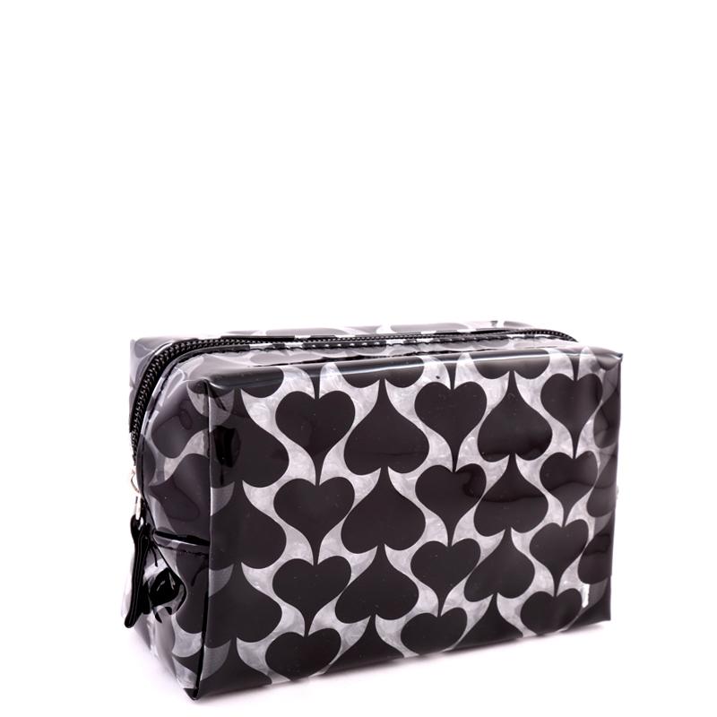 کیف لوازم آرایش قلبی تلقی بیوتی - مشکی