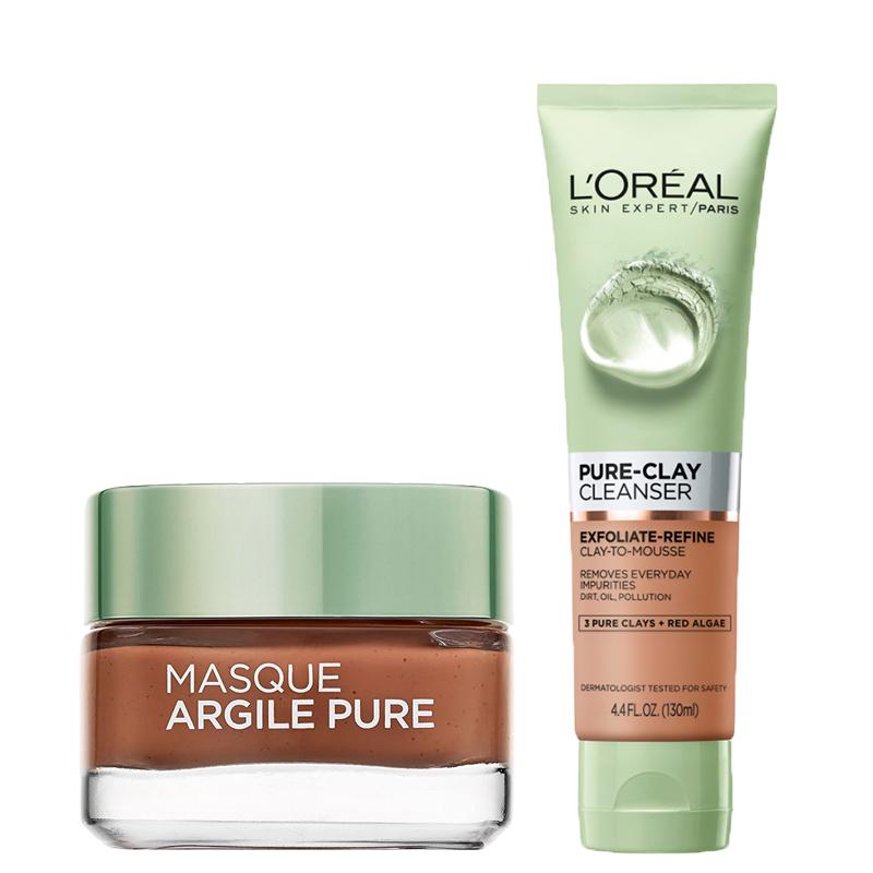 پک ماسک لایه بردار و لطافت بخش و نرم کننده پوست خشک لورال پاریس مدل Pure Clay