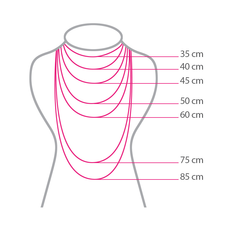 گردنبند ادوریتا مدل Moneda Rosa