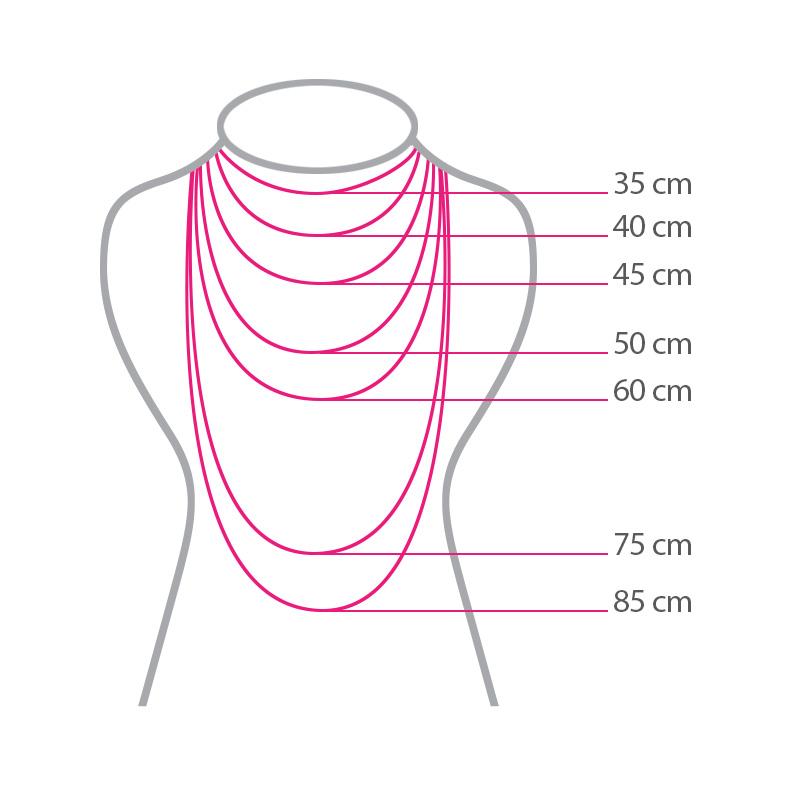 گردنبند ادوریتا مدل Cristal Gris