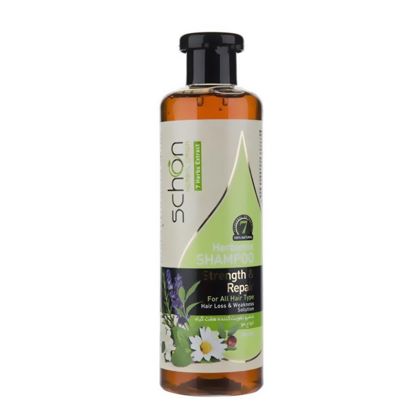 شامپو تقویت کننده موهای ضعیف شون حاوی عصاره هفت گیاه حجم 300 میل
