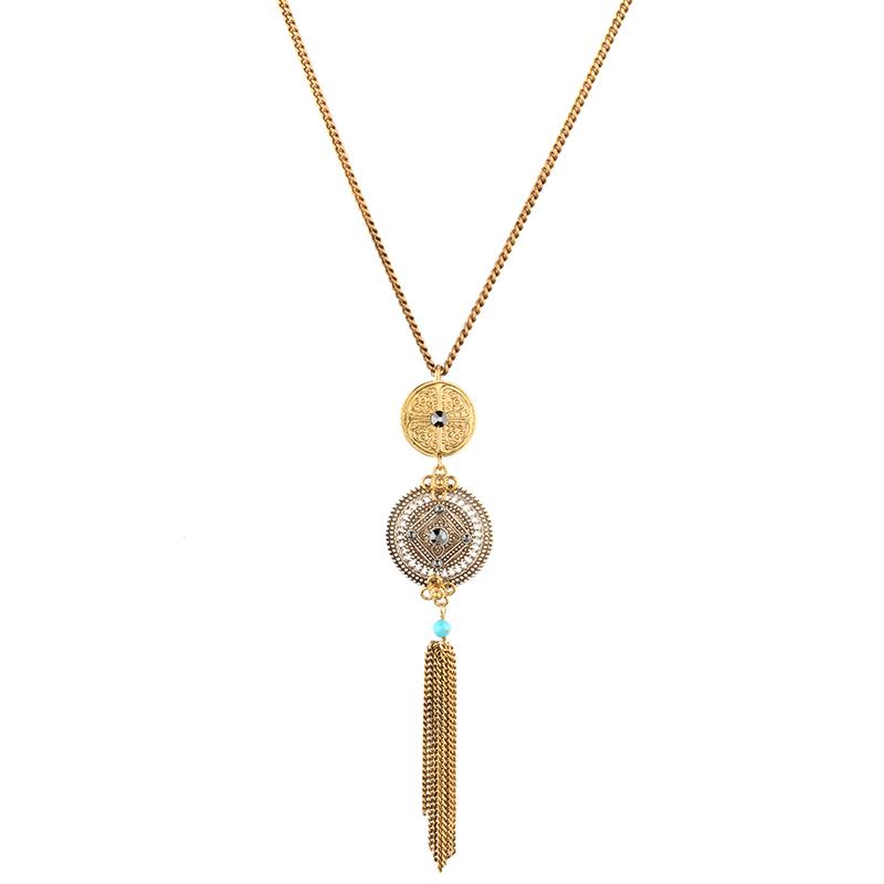 گردنبند طلایی نقره ای