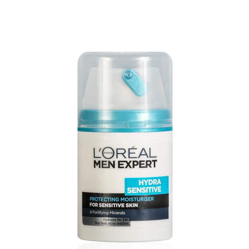 کرم مرطوب کننده بعد از اصلاح مناسب پوست های حساس لورال مردانه مدل Hydra Sensitive حجم 50 میل