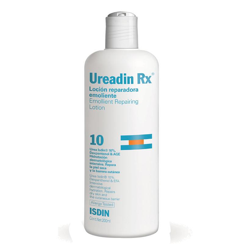 لوسیون ترمیم کننده و آبرسان پوست خیلی خشک ایزدین مدل Ureadin حجم 200 میل