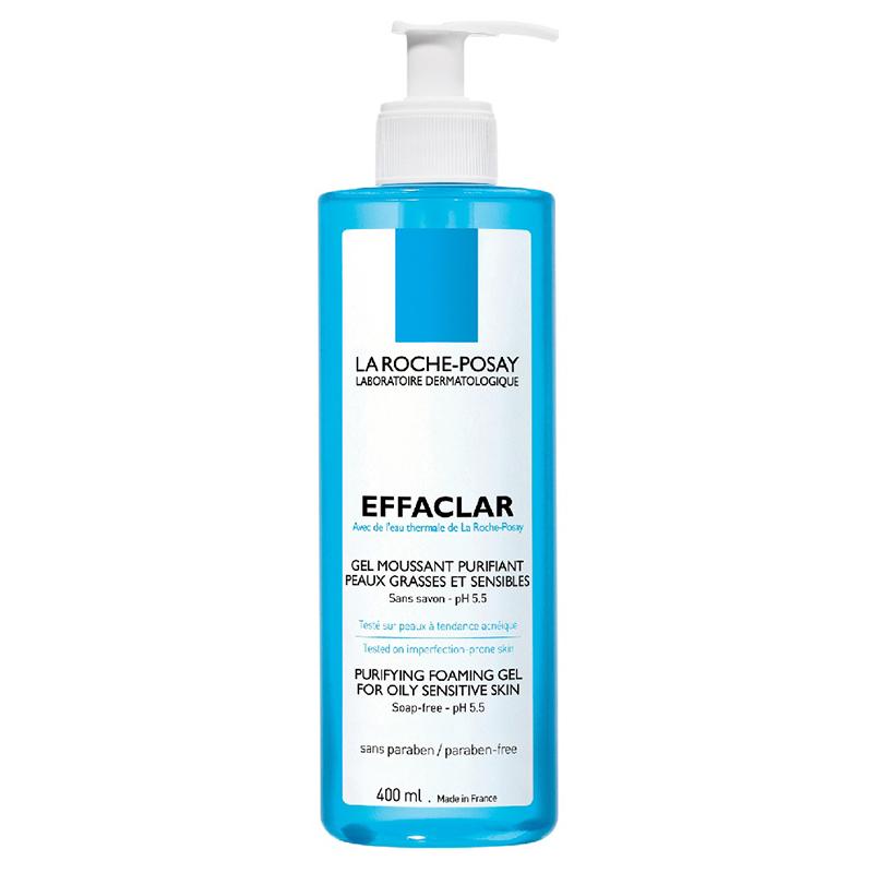 ژل شوینده روزانه پوست های چرب و حساس لاروش پوزای مدل Effaclar حجم 400 میل