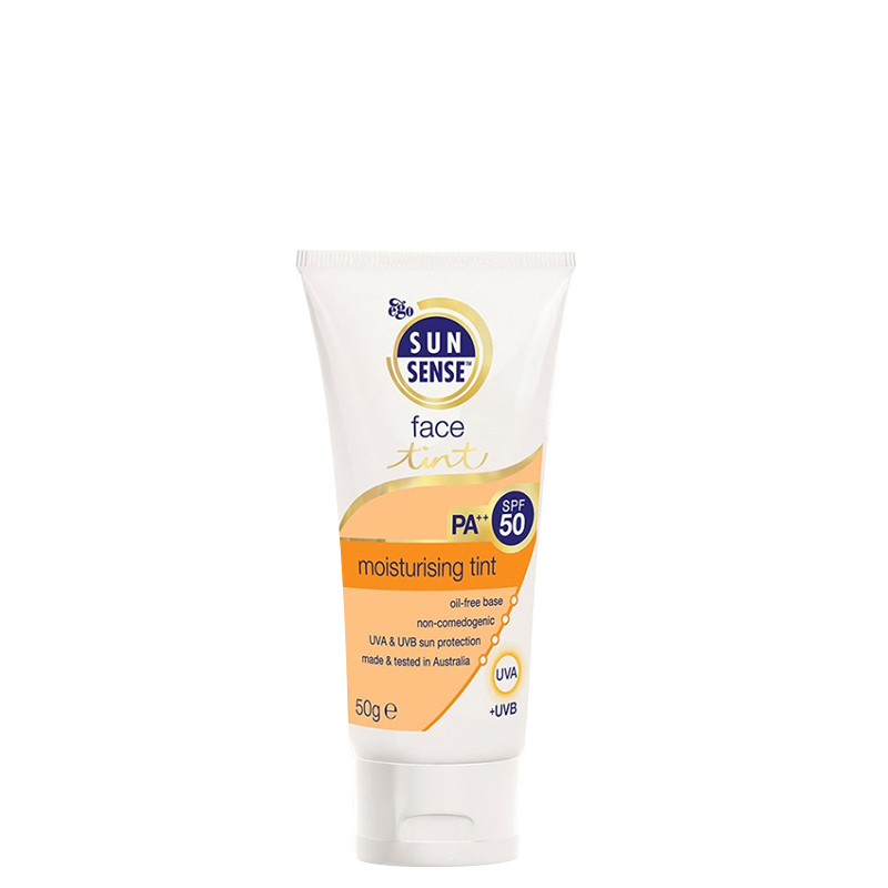 کرم ضد آفتاب مرطوب کننده رنگی سان سنس با SPF50 وزن 50 گرم