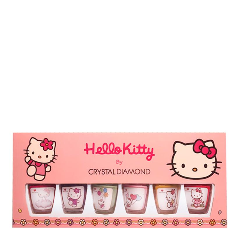 پک 6 عددی لاک کریستال دایموند مدل Hello Kitty