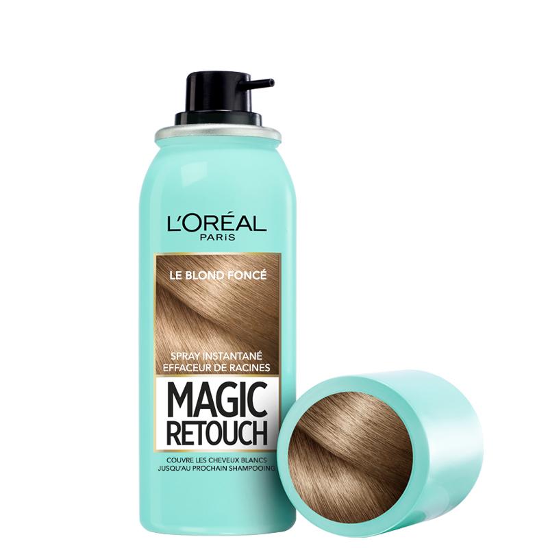 اسپری کانسیلر ریشه مو لورال مدل Magic Retouch حجم 75 میل شماره 4 - بلوند تیره