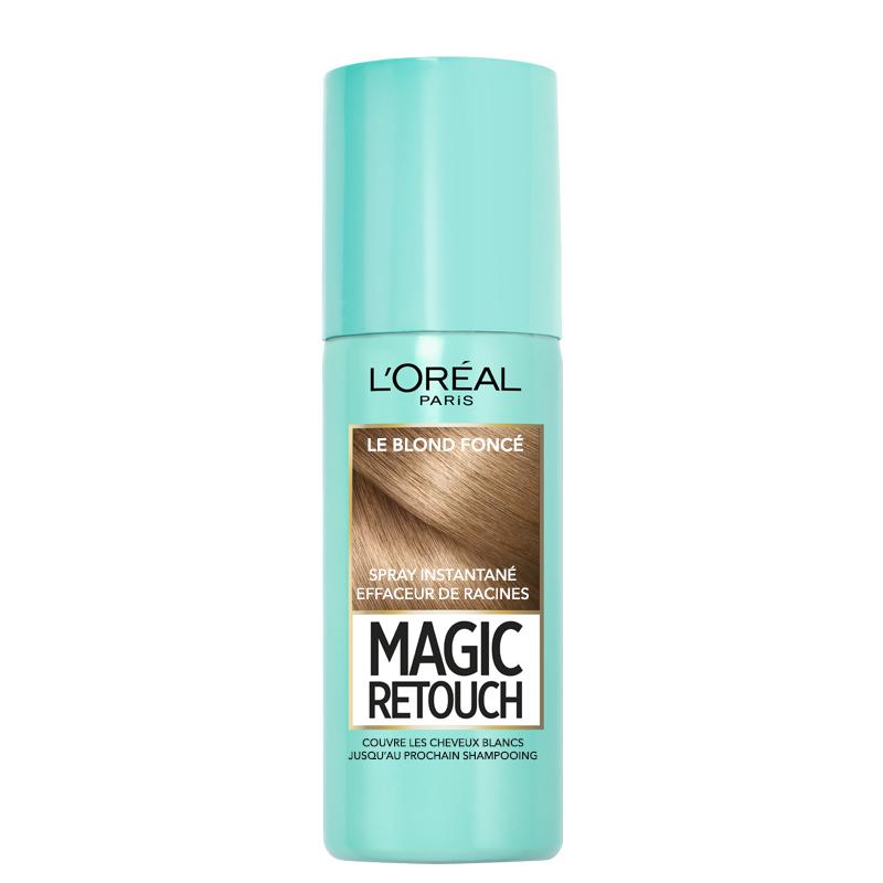اسپری کانسیلر ریشه مو لورآل مدل Magic Retouch حجم 75 میل شماره 4 - بلوند تیره