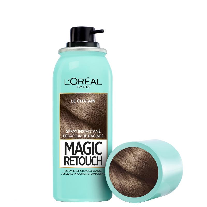 اسپری کانسیلر ریشه مو لورال مدل Magic Retouch حجم 75 میل شماره 3 - قهوه ای