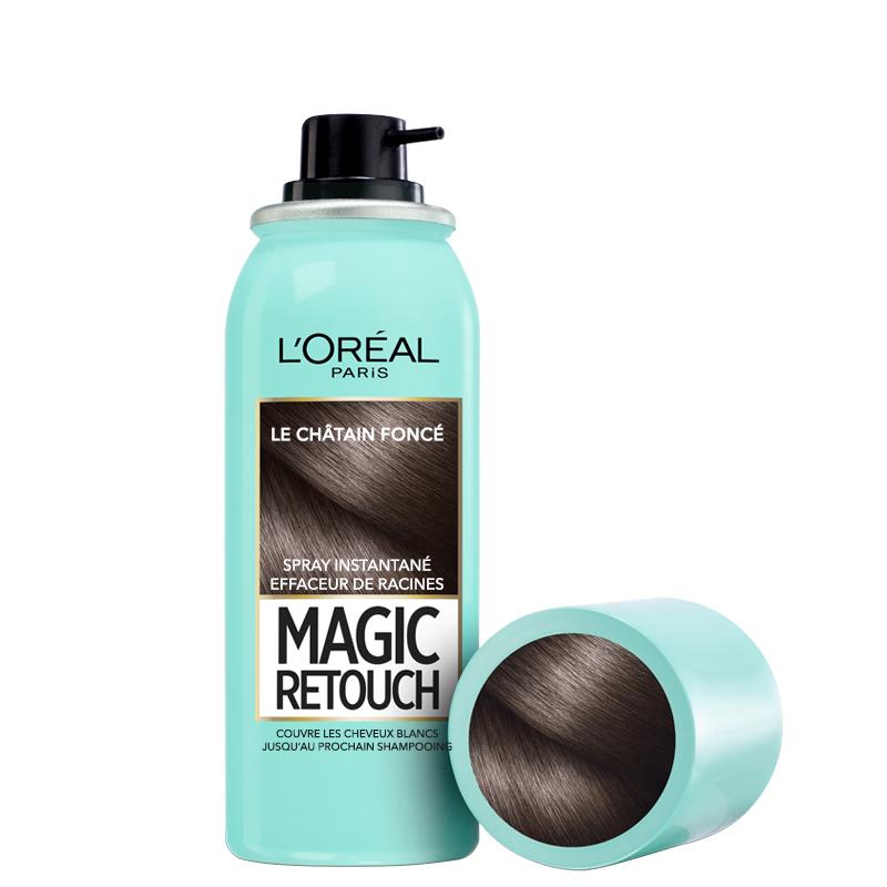 اسپری کانسیلر ریشه مو لورال مدل Magic Retouch حجم 75 میل شماره 2 - قهوه ای تیره