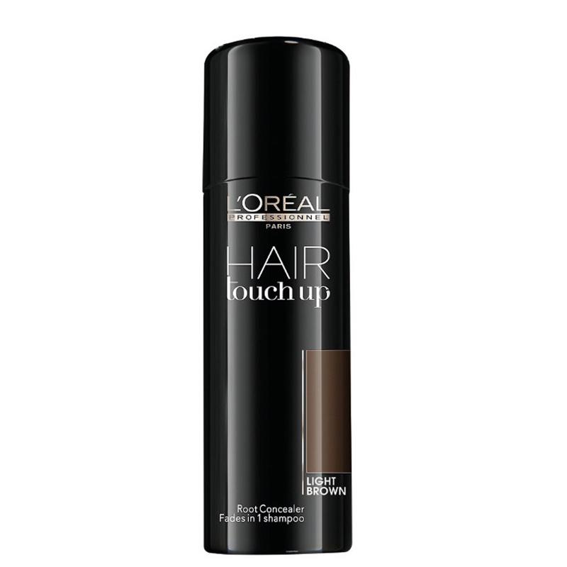 اسپری کانسیلر ریشه مو لورال پروفشنال مدل Hair Touch Up حجم 75 میل - قهوه ای روشن