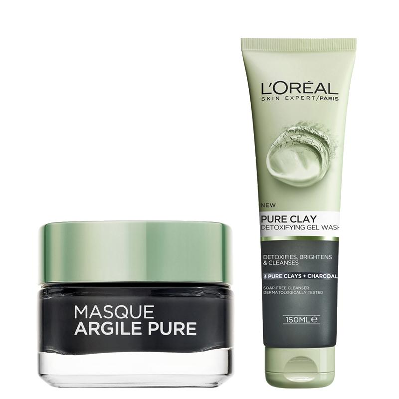 پک ماسک سم زدایی و پاکسازی کننده پوست خسته و کدر لورال پاریس مدل Pure Clay