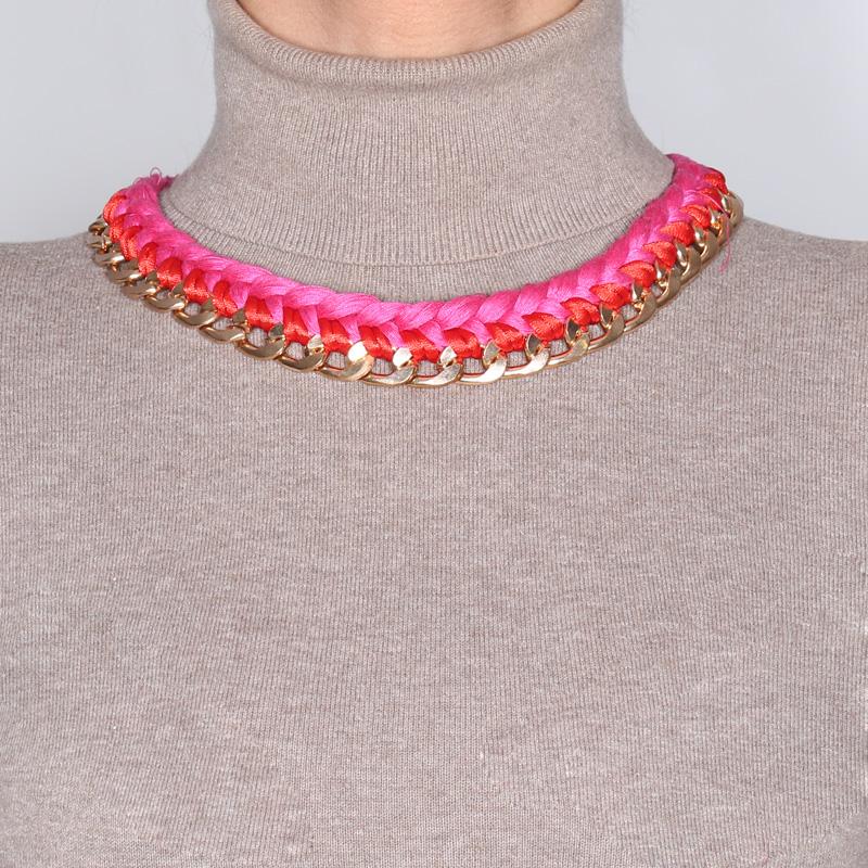 گردنبند ادوریتا مدل Trenza Rosa