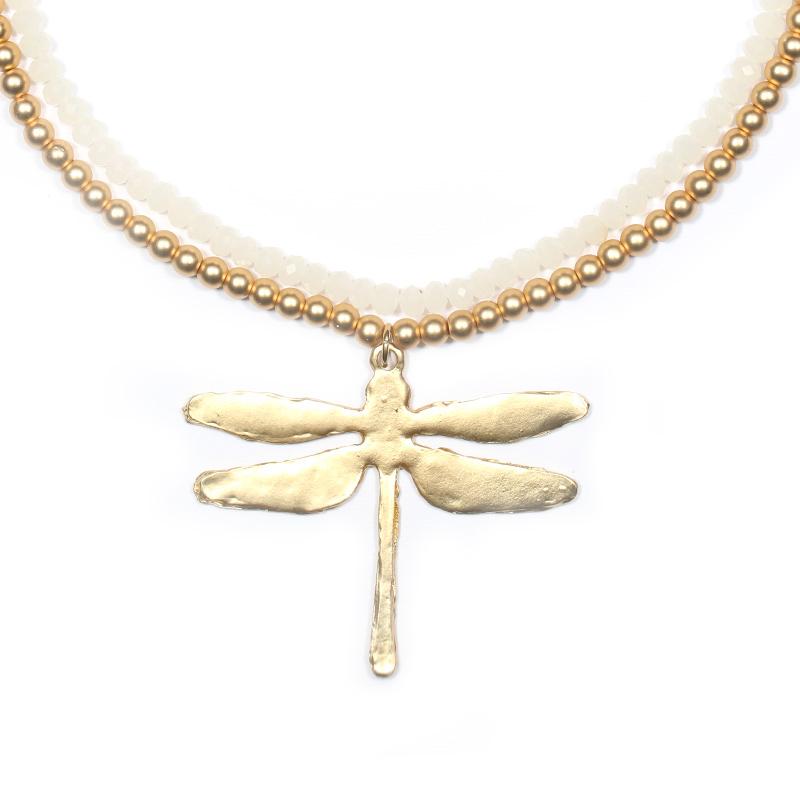 گردنبند ادوریتا مدل Anisoptera Blanca