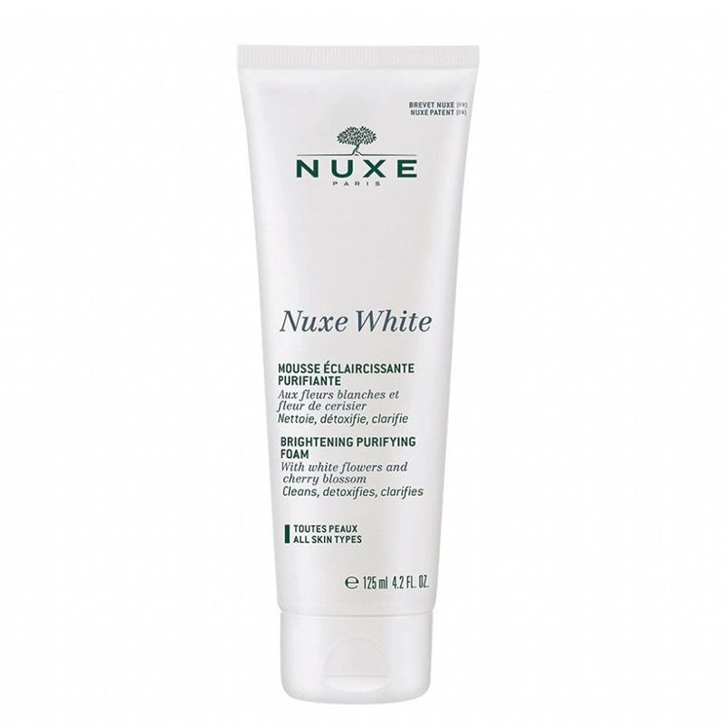 فوم پاک کننده و روشن کننده نوکس مدل Nuxe White