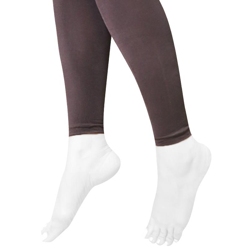 ساق شلواری ساده کَش کَش - قهوه ای سایز S