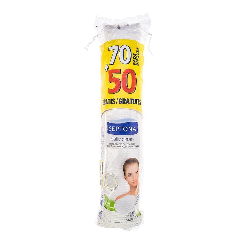 پد آرایشی و پاک کننده گرد دو طرفه سپتونا مدل 50 + 70