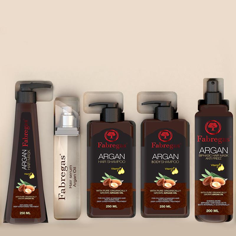 پک 5 عددی ترمیم کننده موی فابریگاس مدل Argan