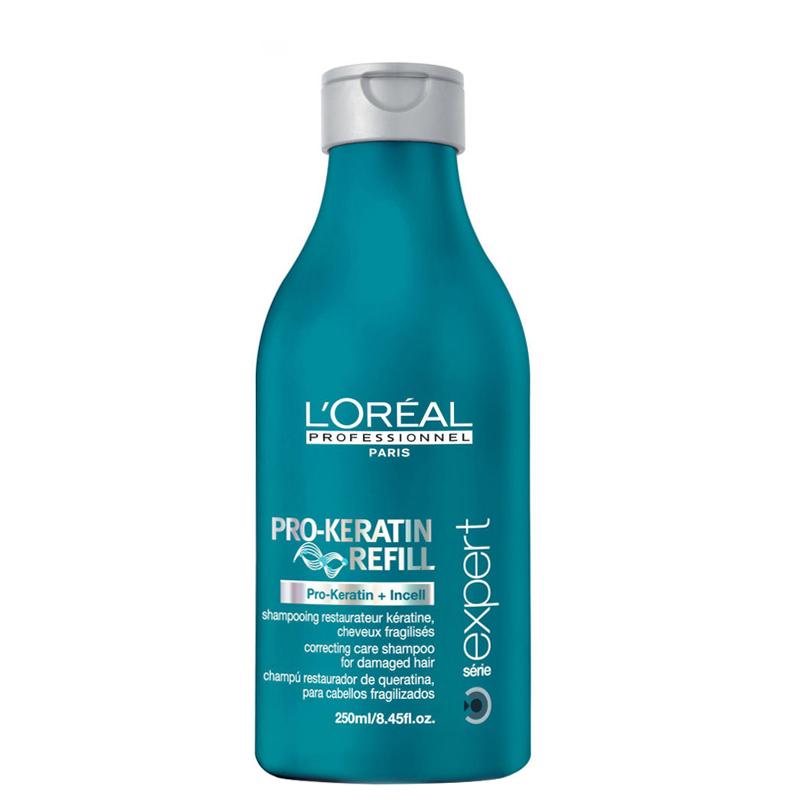 شامپو مناسب موهای آسیب دیده لورال پروفشنال مدل Pro Keratin