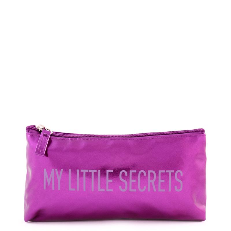 کیف لوازم آرایش بیوتی - بنفش براق