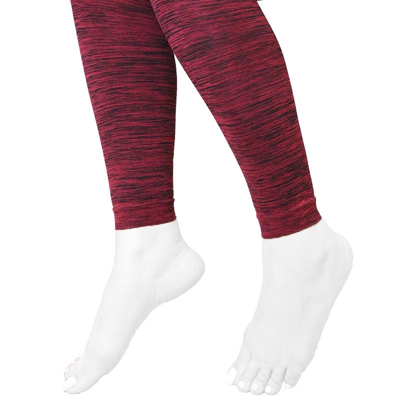 ساق شلواری راه راه کَش کَش سایز L - زرشکی و مشکی