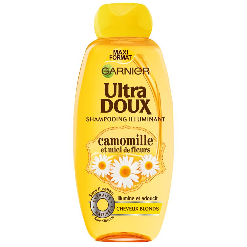 شامپو مناسب موهای روشن بابونه و عسل گارنیه مدل Ultra Doux حجم 400 میل
