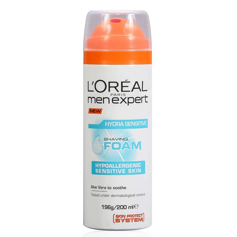 فوم اصلاح آبرسان مناسب پوست های حساس لورال مردانه مدل Hydra Sensitive حجم 200 میل