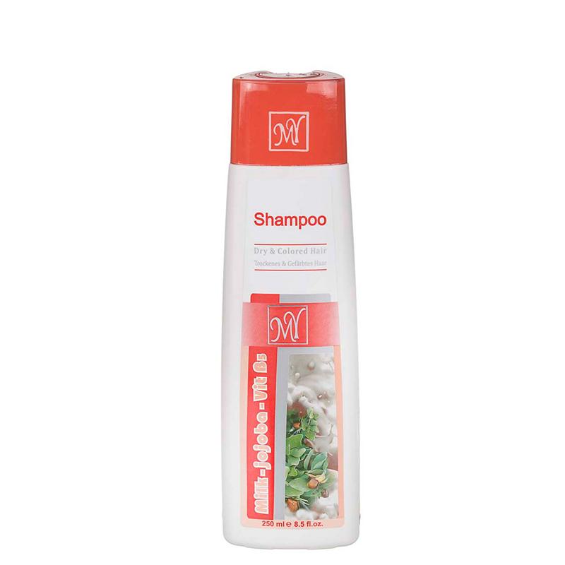 شامپو موهای خشک و رنگ شده حاوی عصاره شیر و جوجوبا مای حجم 250 میل