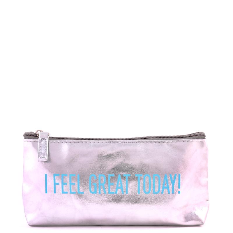 کیف لوازم آرایش بیوتی - نقره ای براق