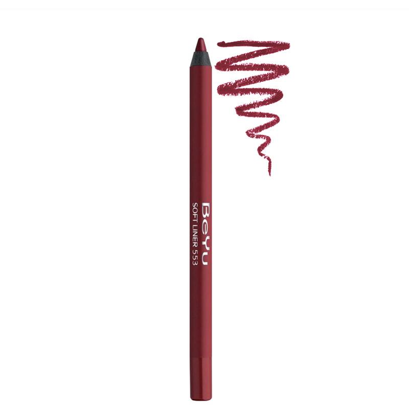 مداد لب بی یو مدل Softliner شماره 553 - قرمز تیره