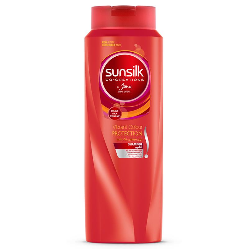 شامپو مو رنگ شده سان سيلک مدل Vibrant Color Protection