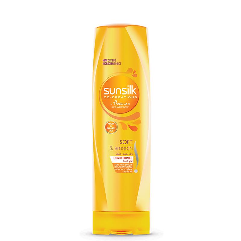 نرم کننده موهای خشک سان سيلک مدل Nourishing Soft And Smooth