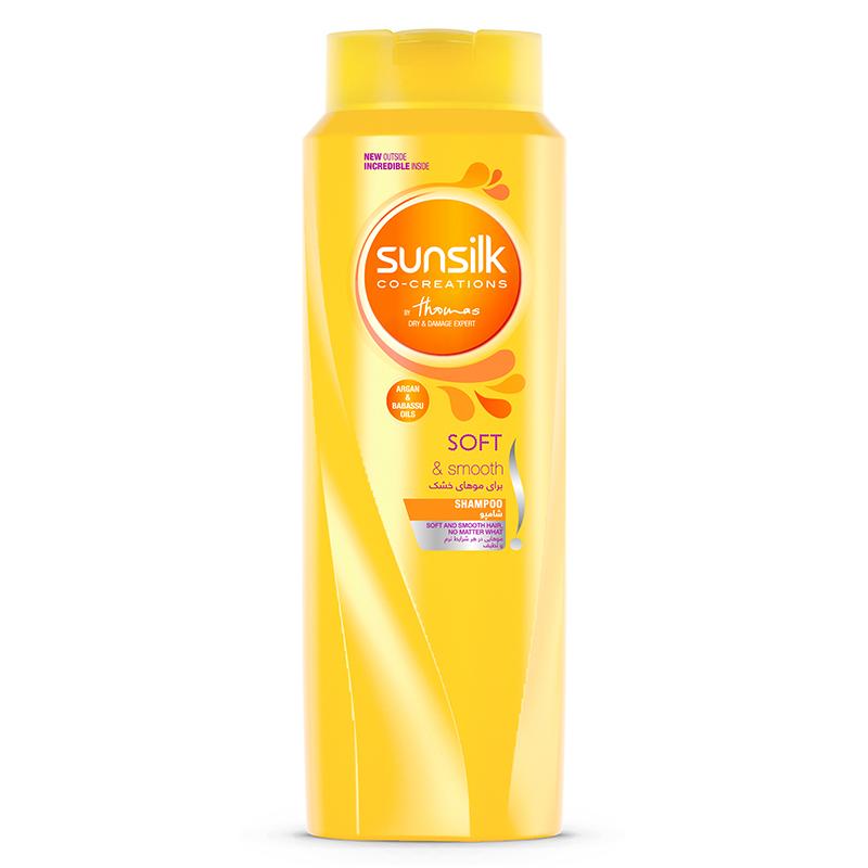 شامپو موهای خشک سان سيلک مدل Nourishing Soft And Smooth حجم 600 میل
