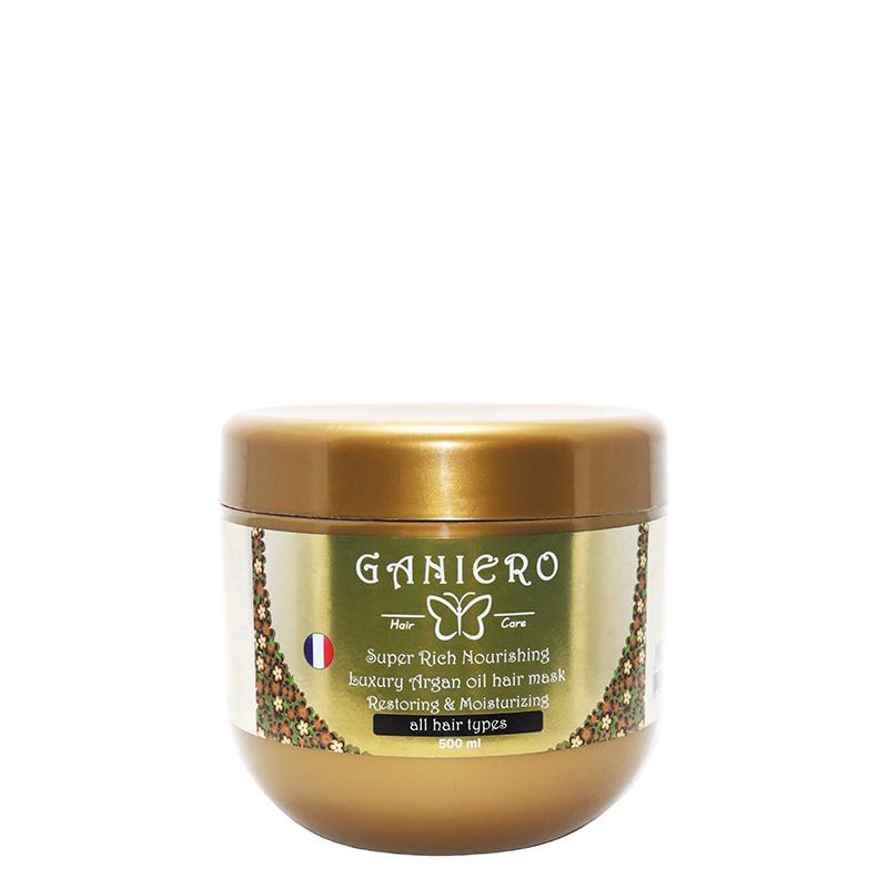 ماسک مو مغذی و ترمیم کننده گانیرو حاوی روغن آرگان حجم 500 میل