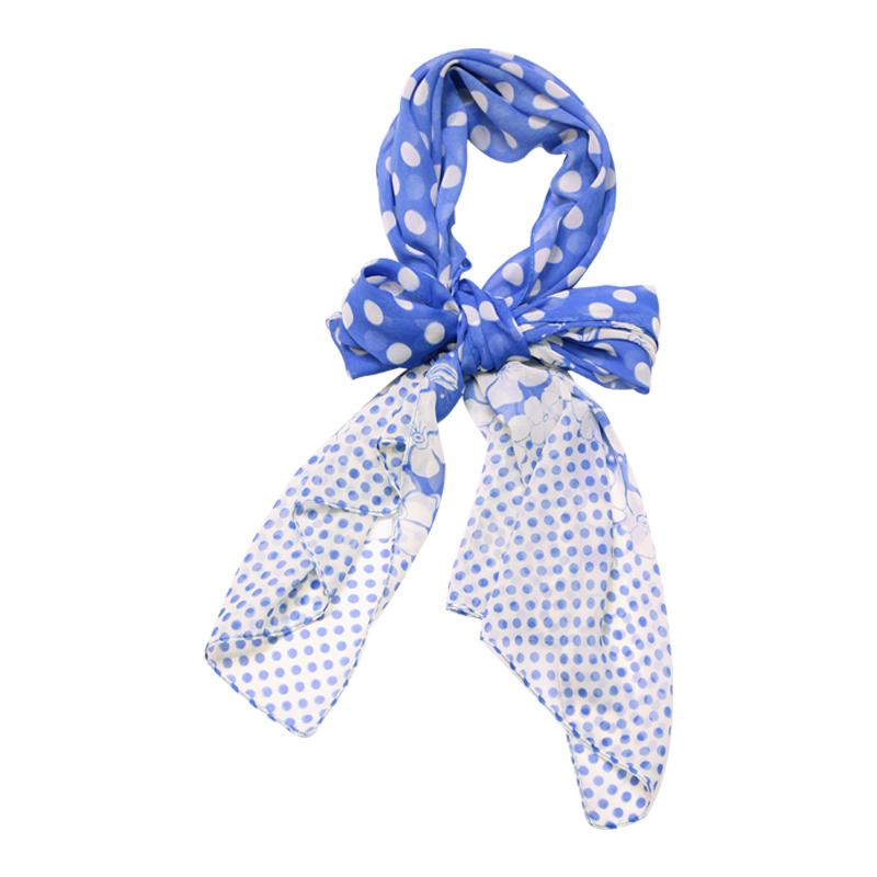 دستمال گردن بالابوسته - آبی و سفید